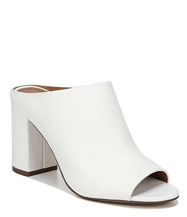 フランコサルト レディース サンダル シューズ Sarto by Franco Sarto Ozzy Leather Block Heel Mules White