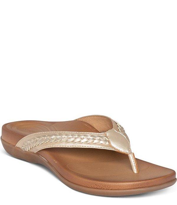 エイトレックス レディース サンダル シューズ Emmy Braided Thong Flip Flop Sandals Champagne