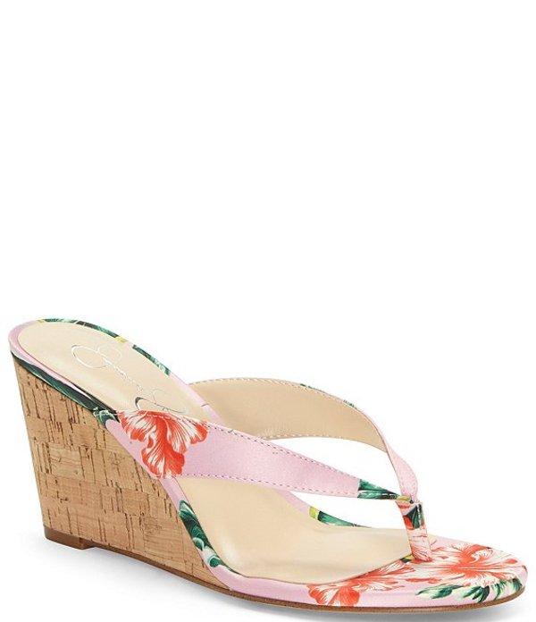 ジェシカシンプソン レディース サンダル シューズ Coyrie Floral Thong Wedges Pink