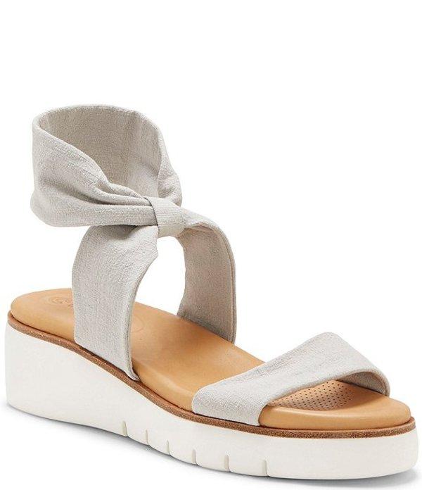 コルソ コモ レディース サンダル シューズ Blayke Power Stretch Platform Sandals Heather Grey