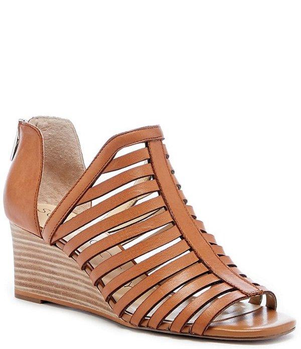 ソロソサエティ レディース サンダル シューズ Serifyna Leather Wedge Sandals Acacia Tan