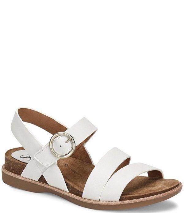 ソフト レディース サンダル シューズ Bradyn Banded Leather Sandals White