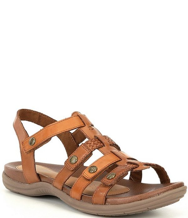 ロックポート レディース サンダル シューズ Cobb Hill Rubey T-Strap Sandals Tan
