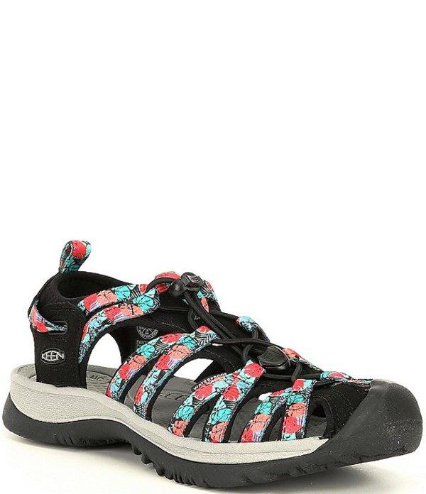 キーン レディース サンダル シューズ Women's Whisper Printed Sandals Black/Multi