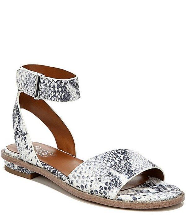 フランコサルト レディース サンダル シューズ Maxine Snake Print Leather Sandals Grey