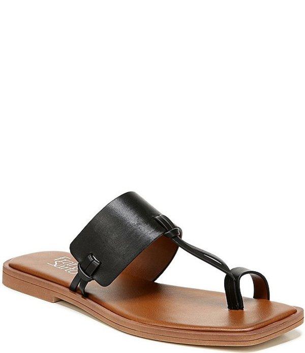 フランコサルト レディース サンダル シューズ Milly Leather Toe Ring Square Toe Sandals Black