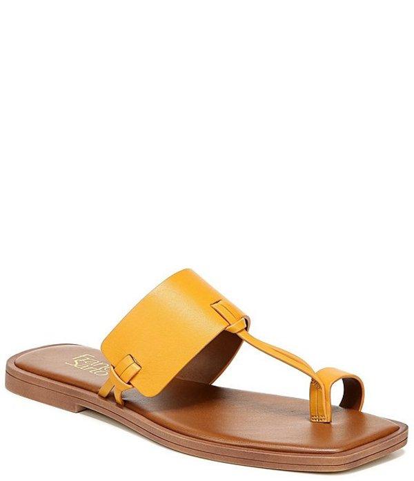 フランコサルト レディース サンダル シューズ Milly Leather Toe Ring Square Toe Sandals Golden Rod