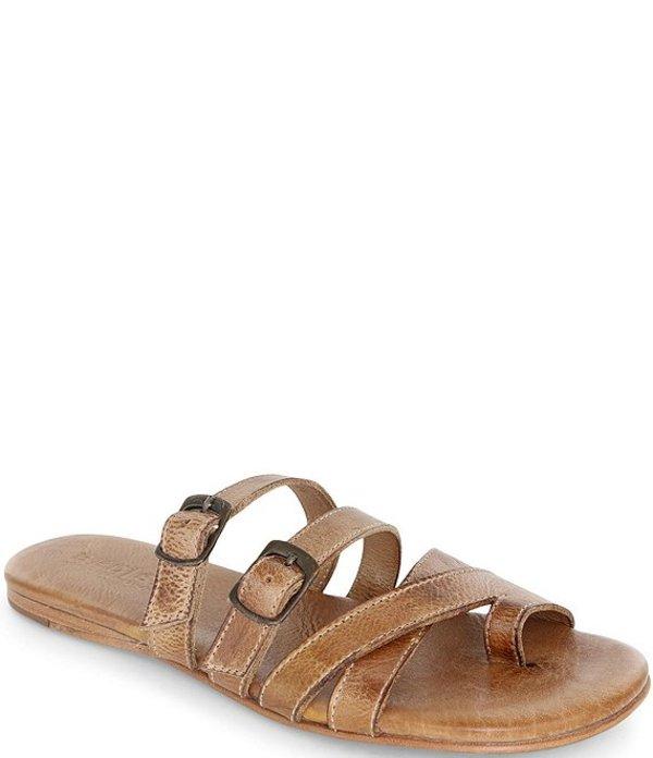 ベッドステュ レディース サンダル シューズ Hilda Leather Toe Loop Slide Sandals Lemon DD