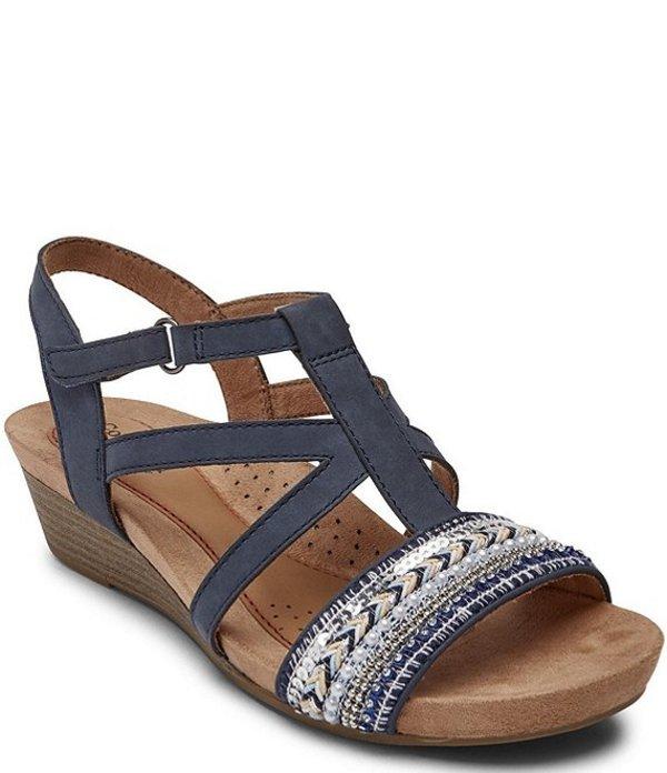 ロックポート レディース サンダル シューズ Cobb Hill Hollywood Leather Sling Sandals Admiral Blue