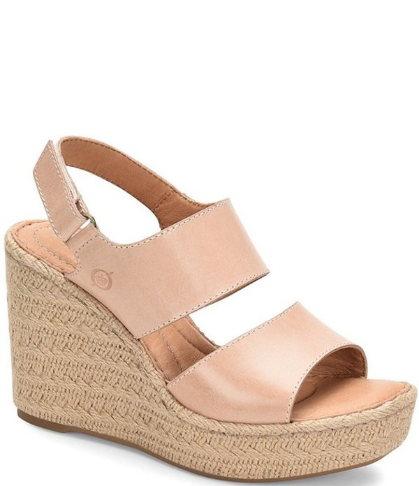 ボーン レディース サンダル シューズ Shoshone Leather Wedge Espadrille Sandals Blush