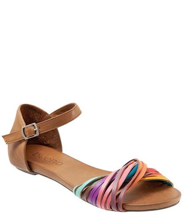 ブエノ レディース サンダル シューズ Cara Colorblock Leather Sandals Bright Multi