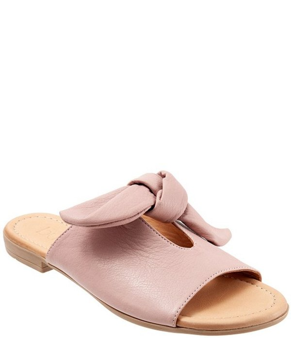 ブエノ レディース サンダル シューズ Joley Leather Big Bow Keyhole Slide Sandals Dusty Mauve