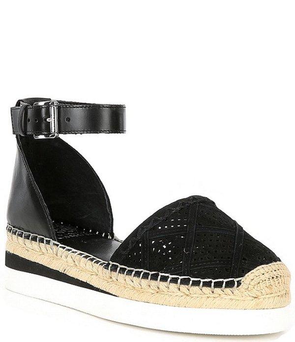 ヴィンスカムート レディース スリッポン・ローファー シューズ Brafina Suede Leather Flatform Espadrilles Black