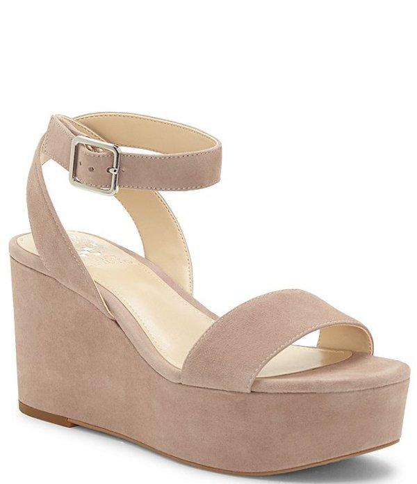 ヴィンスカムート レディース サンダル シューズ Gijenta Suede Platform Wedge Sandals Dusty Mink