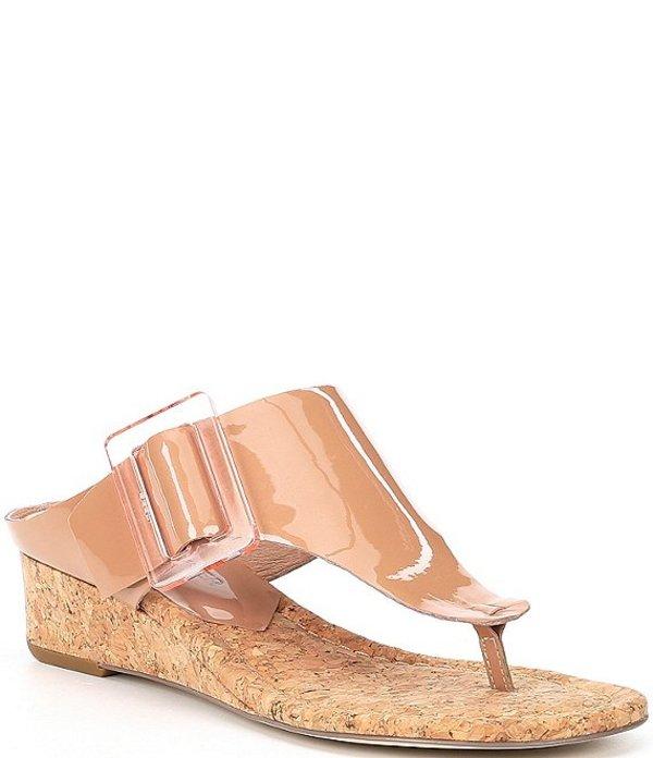 ドナルドプリネール レディース サンダル シューズ Oltina Patent Leather Wedge Sandals Rose