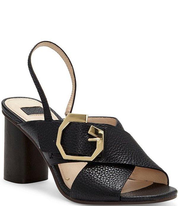 ルイスエシー レディース サンダル シューズ Louise Et Cie Karna Leather Slingback Dress Sandals Black