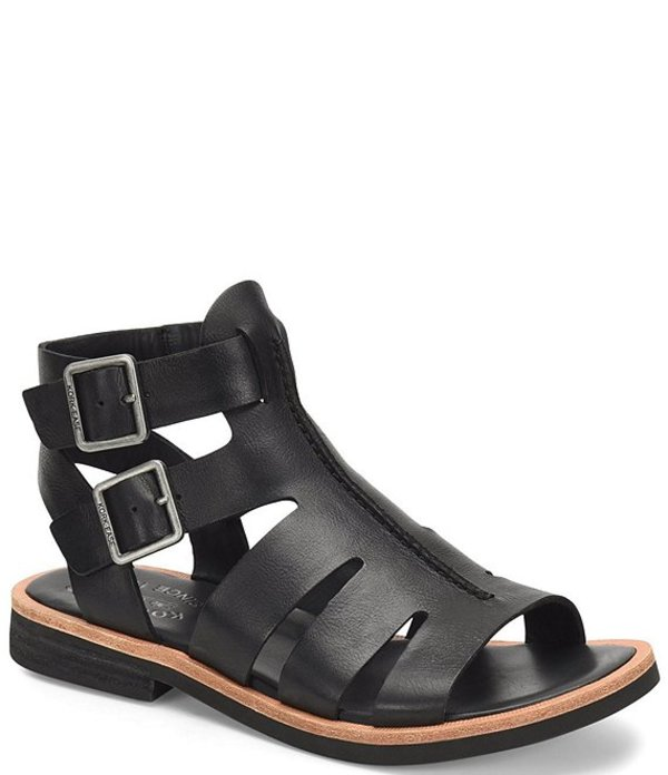 コークイーズ レディース サンダル シューズ Baltea Leather Gladiator Sandals Black