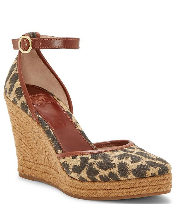 ルイスエシー レディース サンダル シューズ Louise Et Cie Palma Leopard Print Canvas Espadrille Wedges Natural/Brown/Warm Cinnamon