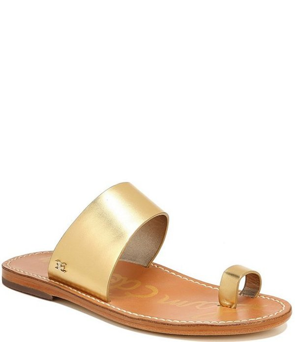 サムエデルマン レディース サンダル シューズ Maxy Leather Toe Ring Sandals Dark Gold
