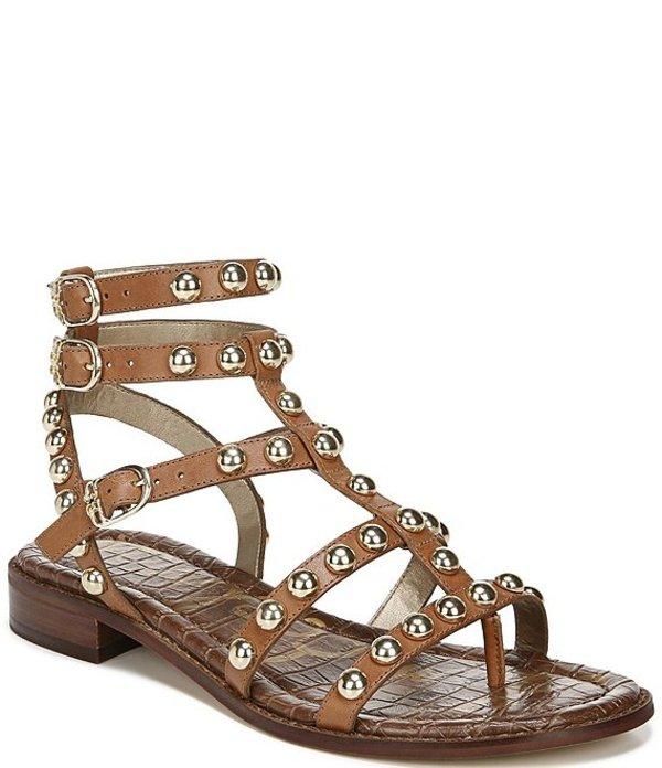 サムエデルマン レディース サンダル シューズ Eavan Studded Leather Gladiator Sandals Spiced Clay