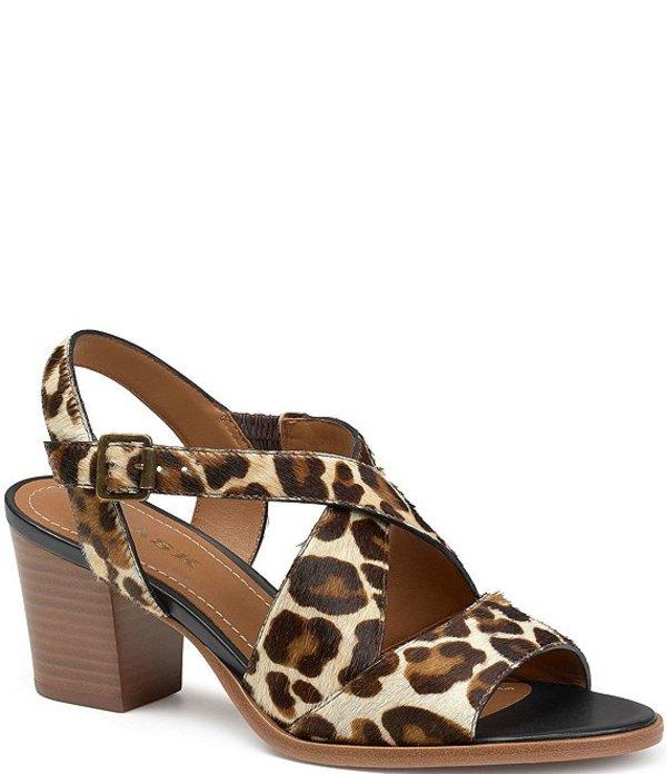 トラスク レディース サンダル シューズ Charlene Leopard Print Haircalf Dress Sandals White Leopard