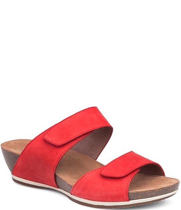 ダンスコ レディース サンダル シューズ Vienna Leather Slide Sandals Tomato