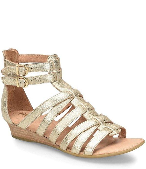 ボーン レディース サンダル シューズ Challis Metallic Leather Gladiator Sandals Gold