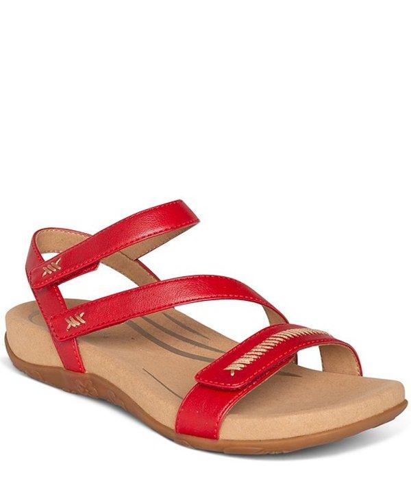 エイトレックス レディース サンダル シューズ Gabby Banded Stitch Detail Sandals Red