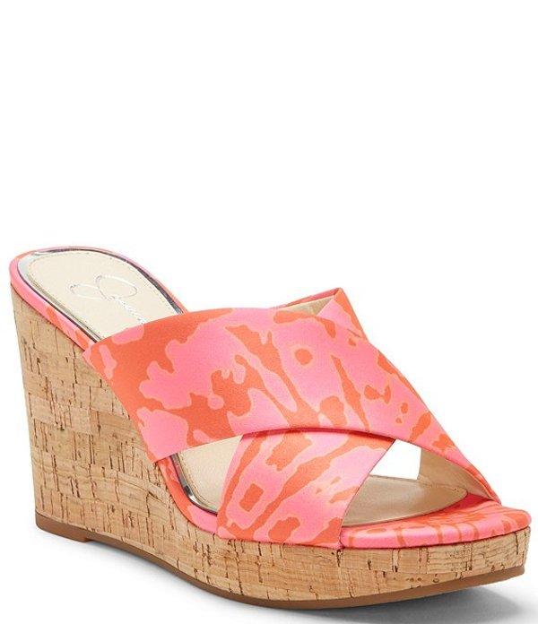 ジェシカシンプソン レディース サンダル シューズ Seena Tie-Dye Wedge Sandals Pink Tie Dye