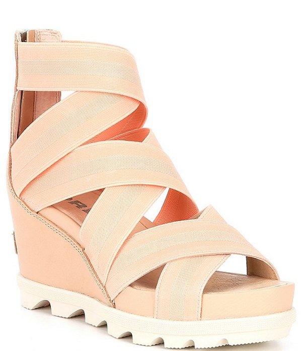 ソレル レディース サンダル シューズ Joanie II Stretch Gore Strap Wedge Sandals Natural Tan