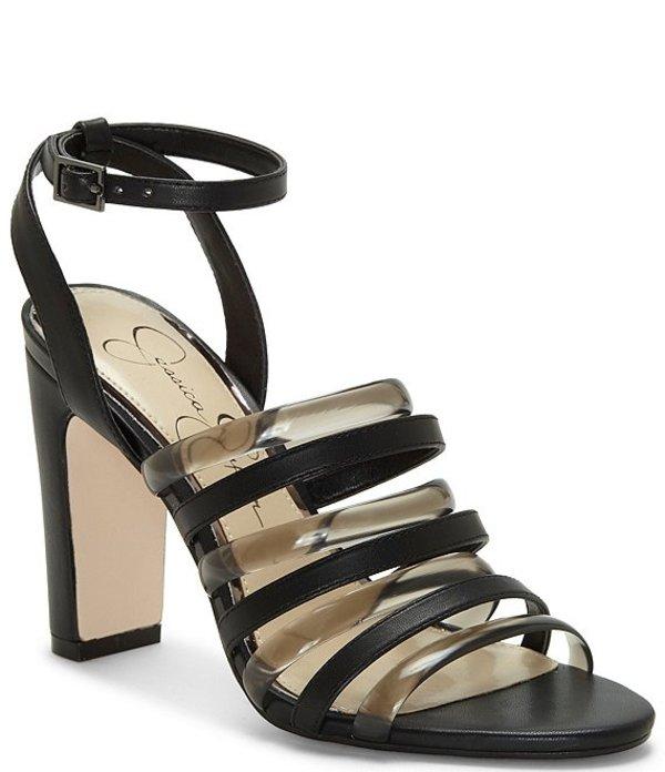 ジェシカシンプソン レディース サンダル シューズ Aveesha Tubular Block Heel Sandals Black