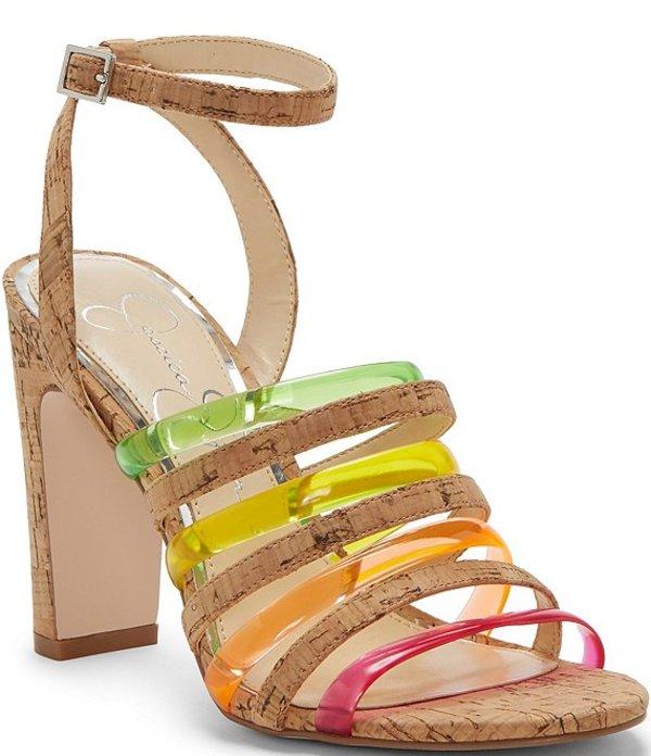 ジェシカシンプソン レディース サンダル シューズ Aveesha Cork Tubular Block Heel Sandals Natural