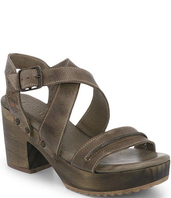 ベッドステュ レディース サンダル シューズ Lara Leather Block Heel Platform Sandals Taupe DD