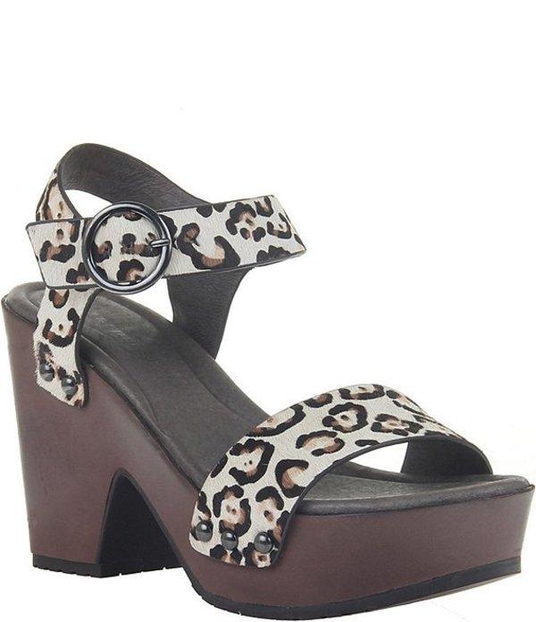 ネイキッドフィート レディース サンダル シューズ Oro Leopard Print Leather Platform Sandals Bone