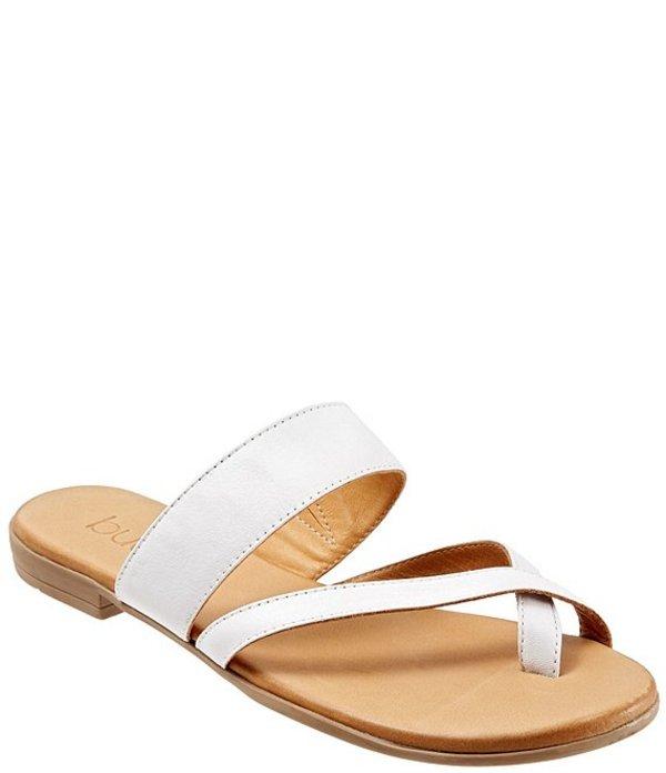 ブエノ レディース サンダル シューズ Jackson Leather Toe Loop Thong Sandals White
