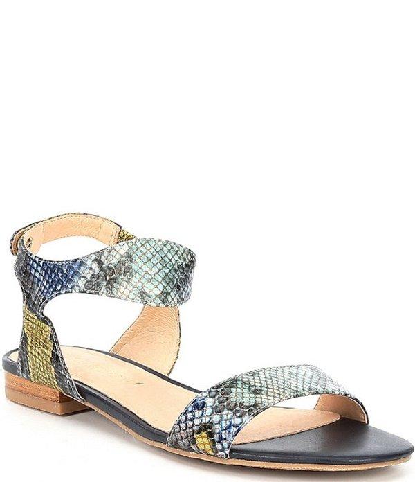 ジャックロジャース レディース サンダル シューズ Gwen Wave Snake Printed Leather Sandals Blue Snake