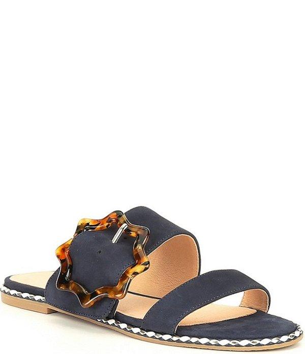 ジャックロジャース レディース サンダル シューズ Maisy Buckle Leather Slide Sandals Midnight