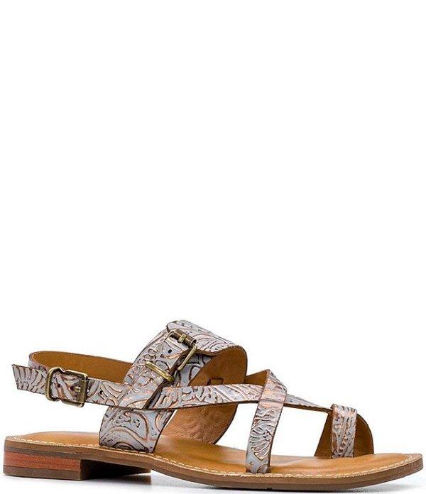 パトリシアナシュ レディース サンダル シューズ Fidella Tooled Floral Print Leather Toe Ring Sandals Natural White