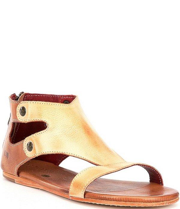 ベッドステュ レディース サンダル シューズ Soto Leather Flat Sandals Sand/Tan Rustic