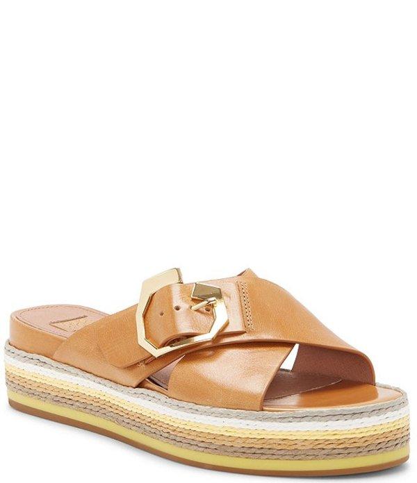 ルイスエシー レディース スリッポン・ローファー シューズ Louise Et Cie Cassia Leather Flatform Espadrille Sandals Tan