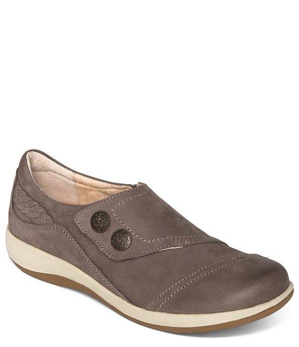 エイトレックス レディース スリッポン・ローファー シューズ Karina Monk Strap Leather Loafers Warm Grey