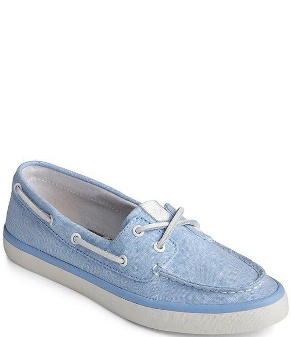 スペリー レディース デッキシューズ シューズ Sailor Boat Chambray Boat Shoes Blue