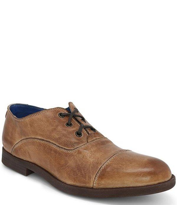 ベッドステュ メンズ ドレスシューズ シューズ Men's Donatello Leather Cap Toe Oxford Tan Rustic