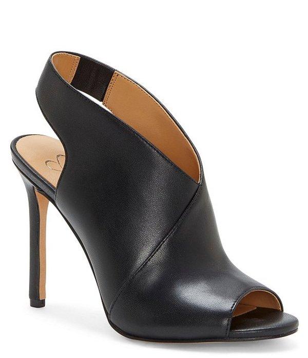 ジェシカシンプソン レディース ブーツ・レインブーツ シューズ Jourie2 Metallic Leather Peep Toe Stiletto Shooties Black