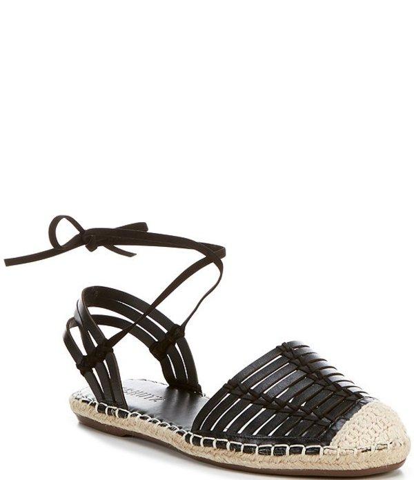 シュッツ レディース スリッポン・ローファー シューズ Gwyneth Huarache Leather Flatform Sandals Black