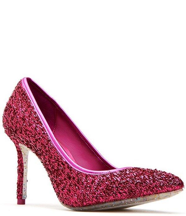 ケイティ ペリー レディース ヒール シューズ The Sissy Confetti Glitter Pumps Fuchsia