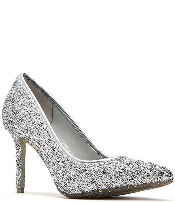 ケイティ ペリー レディース ヒール シューズ The Sissy Confetti Glitter Pumps Silver