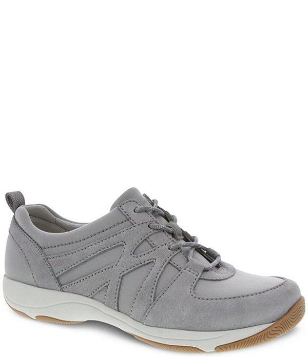 ダンスコ レディース スニーカー シューズ Hatty Suede Oxford Lace-Up Sneakers Grey Suede