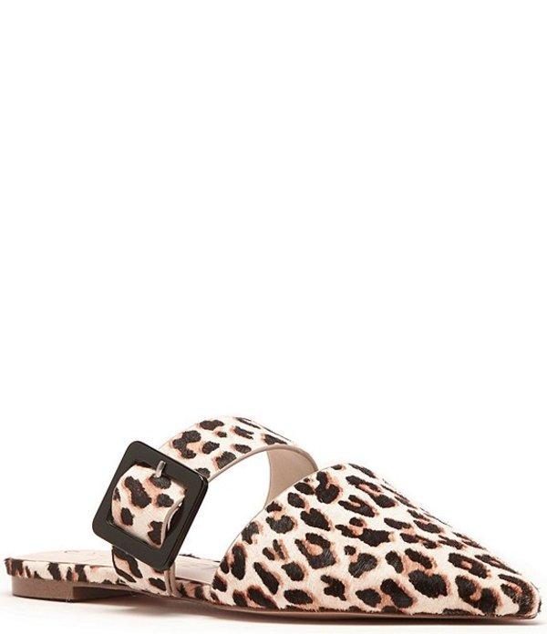 ソロソサエティ レディース サンダル シューズ Tanitha2 Leopard Print Calf Hair Detail Mules Beige Multi