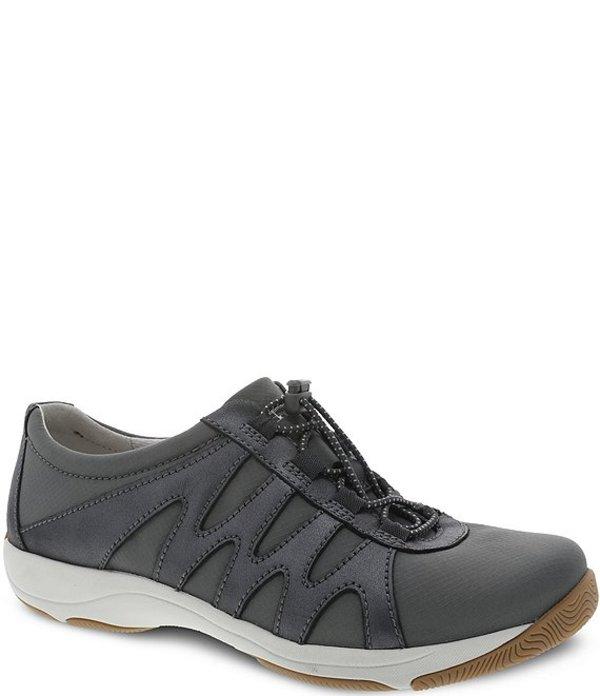 ダンスコ レディース スニーカー シューズ Harlie Suede Detail Sneakers Charcoal Metallic Suede